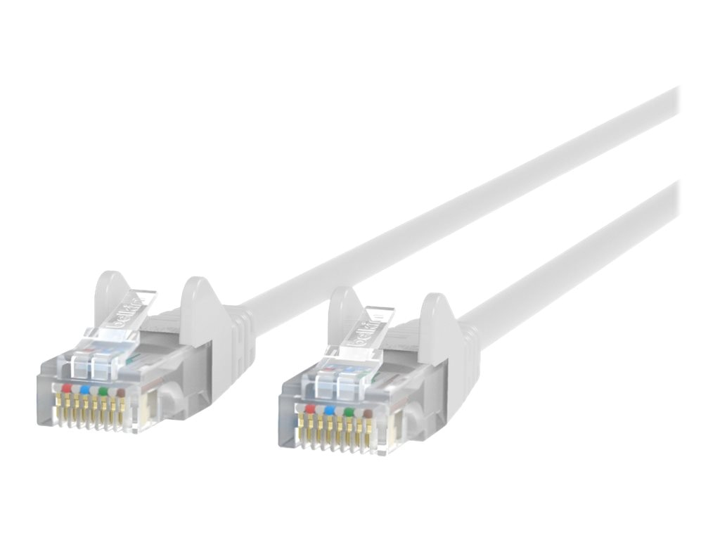 Belkin Cat6 UTP Patch Cable, White, Snagless, 5ft
