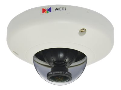 Acti 5MP Indoor Mini Fisheye Dome with Basic WDR, Fixed Lens, E96