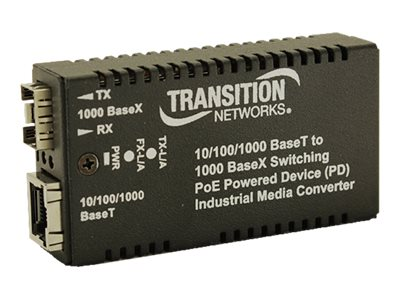 Transition 10 100 1000Base-TX to 1000Base SFP IND MC Transceiver