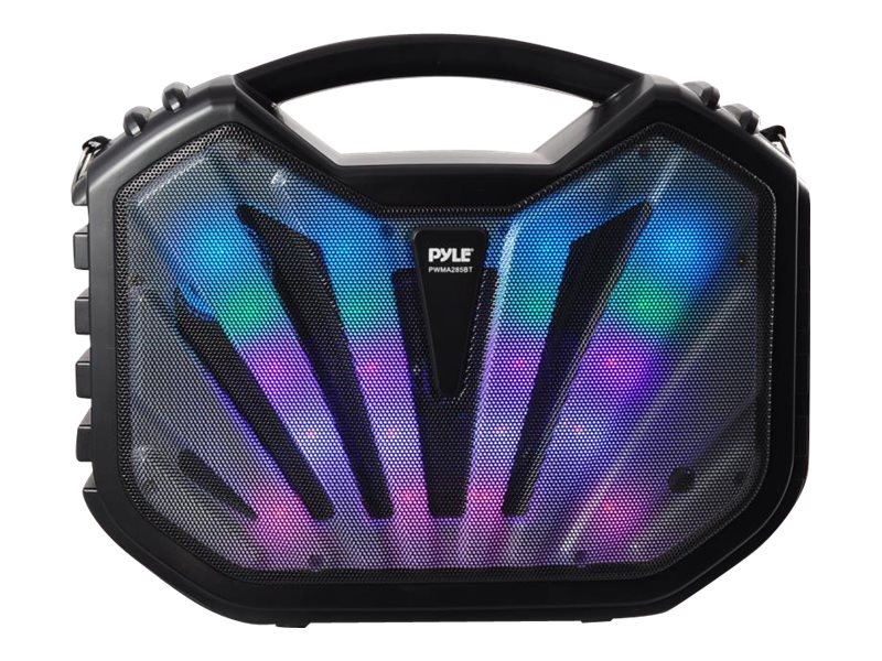 Pyle Portable BT Karaoke Speaker System w  DJ Flashing Lights, PWMA285BT