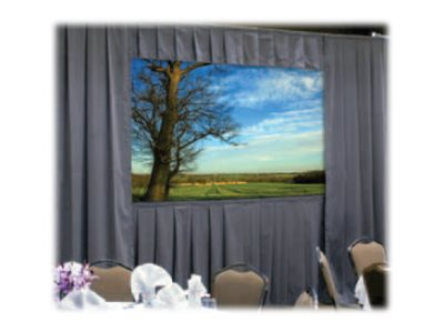 Da-Lite Ultra Velour Drapery Kits for Deluxe Frames, 8' x 14', 39322P, 17498036, Projector Screen Accessories