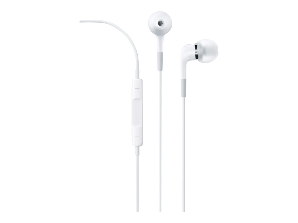 Apple In-Ear Headphones with Remote and Mic, White, ME186LL/A