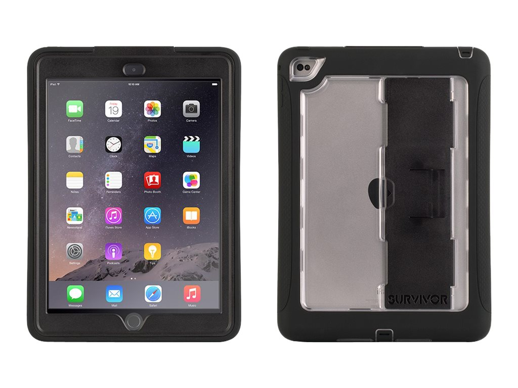 Griffin Survivor Slim for iPad Air2, Black Clear, XB40369, 25744268, Carrying Cases - Tablets & eReaders