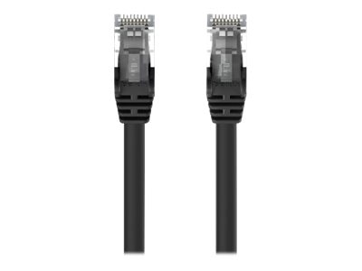 Belkin Cat5e Snagless Patch Cable, Black, 1ft, A3L791-01-BLK-S