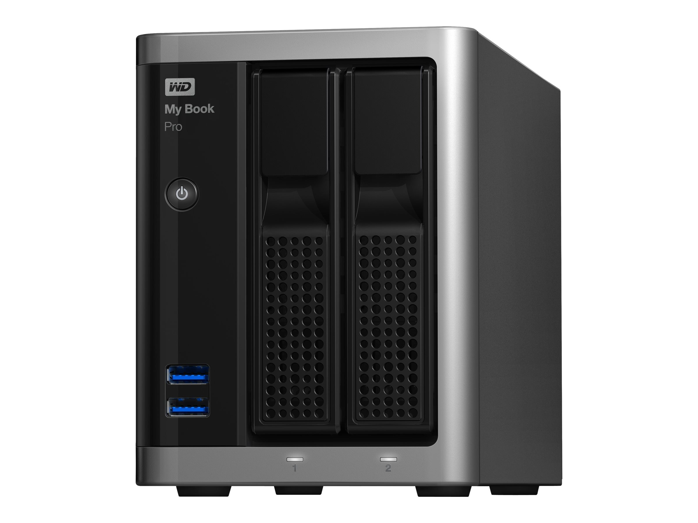 WD 12TB My Book Pro Dual Drive Thunderbolt2 RAID Storage, WDBDTB0120JSL-NESN, 23730129, Hard Drives - External