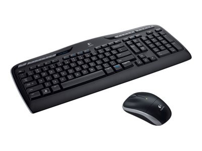 Logitech Wireless Desktop MK320 Keyboard, Mouse, 2.4GHz, 920-002836