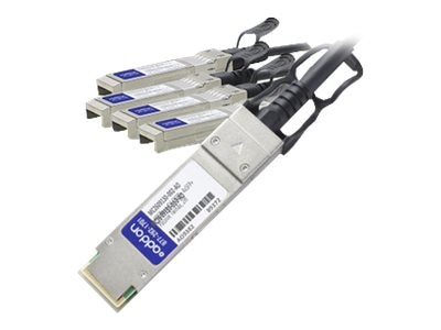 ACP-EP 40GBase-CU QSFP+ to 4x SFP+ Passive Twinax Direct Attach Cable, 2m, MC2609130-002-AO
