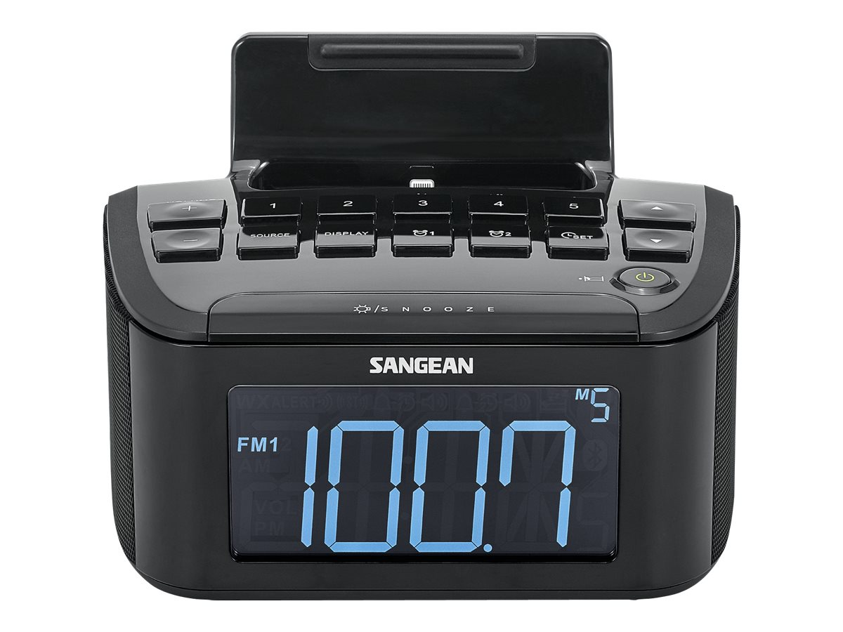 Sangean AM FM Clock Radio w  iPhone Dock, RCR-28