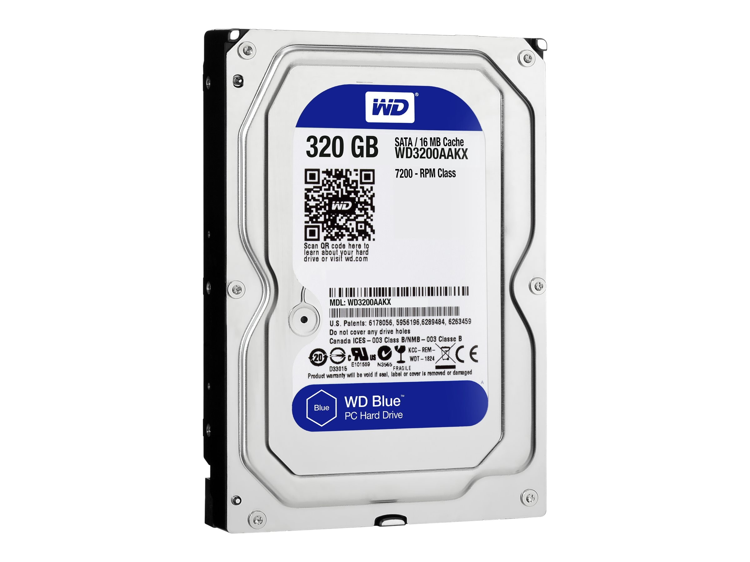 WD 320GB WD Caviar Blue SATA 6Gb s 3.5 Internal Hard Drive - 16MB Cache, WD3200AAKX, 12107201, Hard Drives - Internal