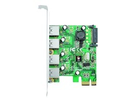 Siig 4-Port USB 3.0 PCIe Host Adapter, JU-P40412-S1, 14836132, Controller Cards & I/O Boards