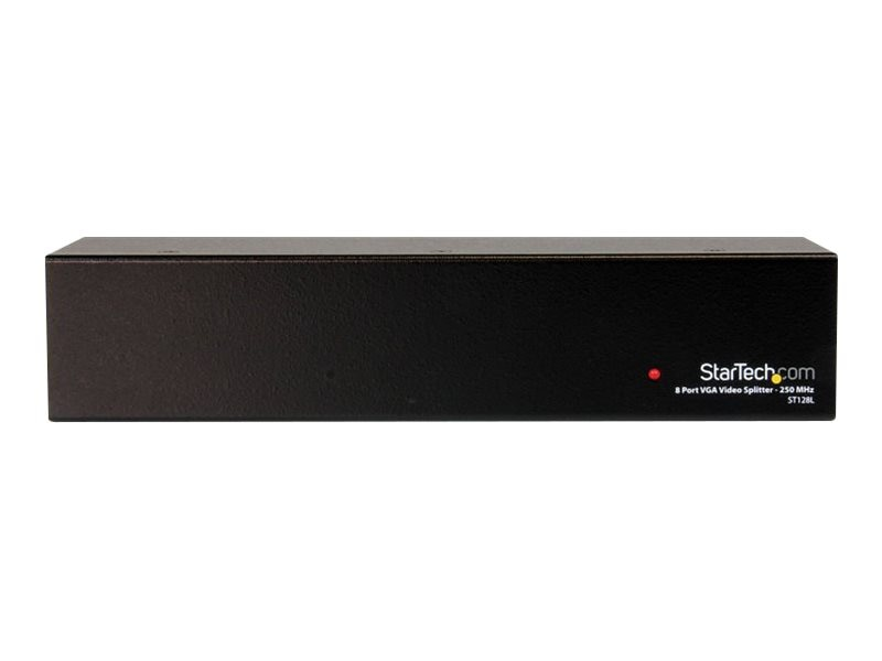 StarTech.com 8-Port 250MHz VGA Video Splitter Distribution Amplifier, ST128L, 6500305, Video Extenders & Splitters