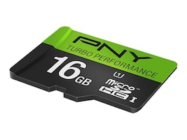 PNY 16GB Micro SDHC UHS-I Flash Memory Card, Class 10, P-SDU16GU190G-GE, 20996474, Memory - Flash