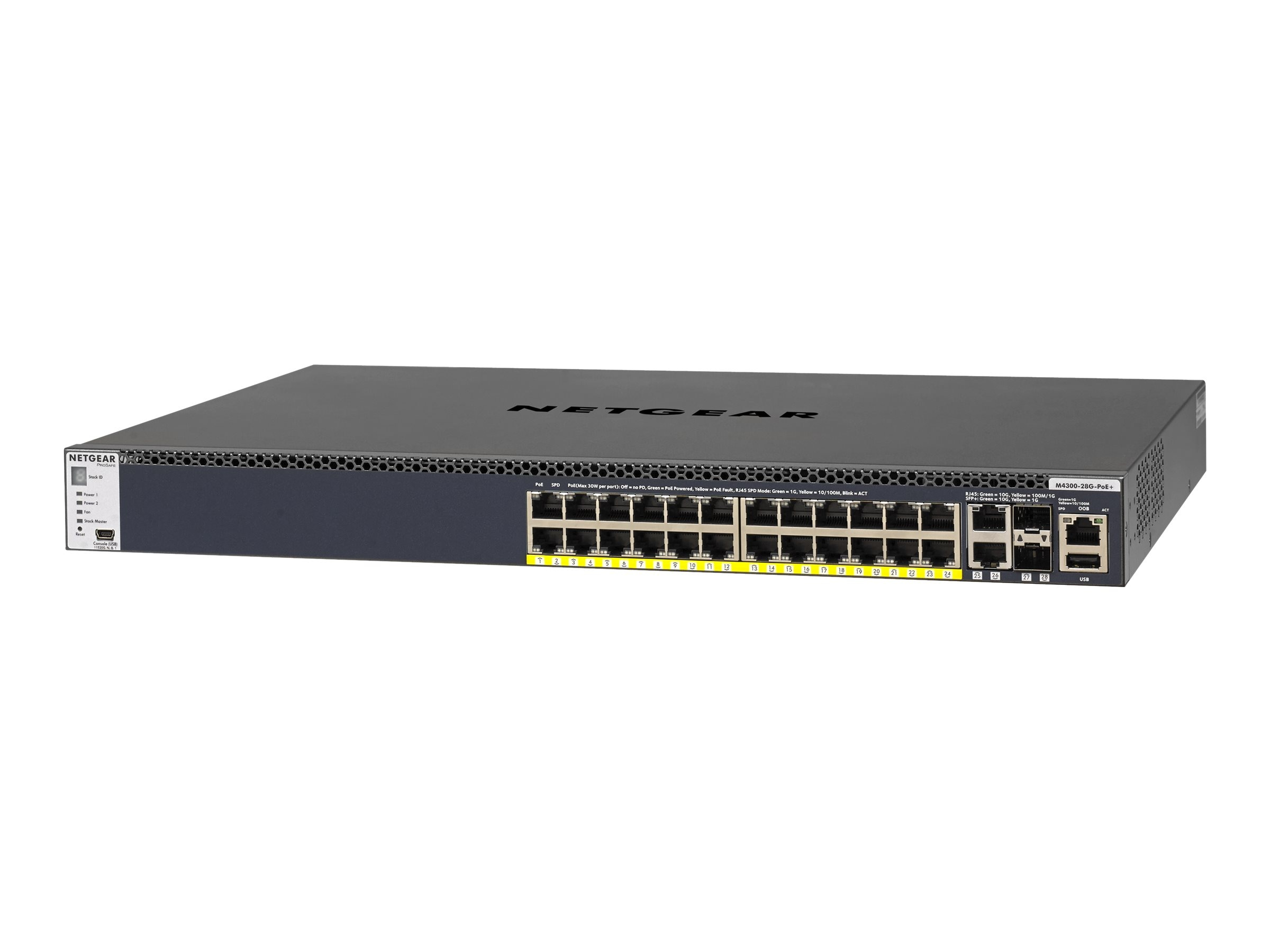 Netgear M4300-28G-PoE+ 24-Port Gb PoE+ Managed Switch, GSM4328PB-100NES