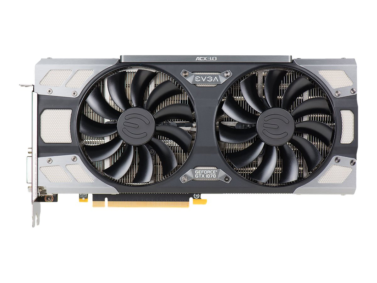 eVGA GeForce GTX 1070 FTW PCIe 3.0 x16 Graphics Card, 8GB GDDR5, 08G-P4-6276-KR