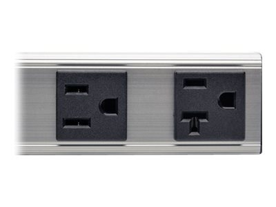 Tripp Lite Power Strip, 12, 120V 20A, 5-15P Input, 15ft Cord, (2) 5-15R (2) 5-20R Outlets, PS120420