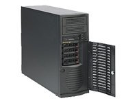Supermicro Chassis, Mid-Tower, EATX, 7 Bays, 465W High Efficiency PS, Black, CSE-733T-465B, 8122926, Cases - Systems/Servers