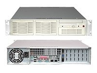 Supermicro Chassis, 2U, Rackmount, Dual Xeon, EATX, 6 HDD, 550W PS, FDD, Beige, CSE-823I-550LP, 6122076, Cases - Systems/Servers