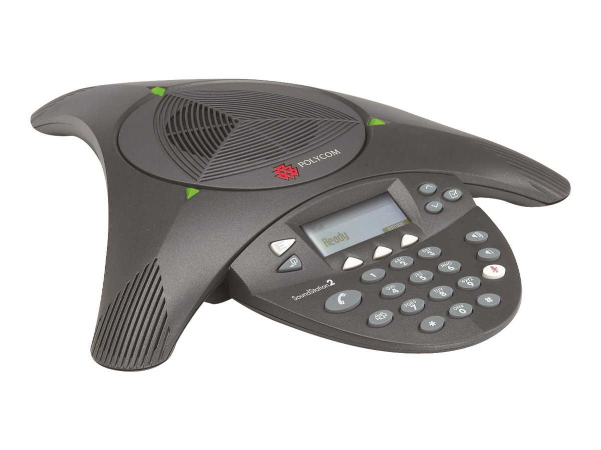 Open Box Polycom SoundStation 2 Conference Phone With Caller ID, 2200-16000-001