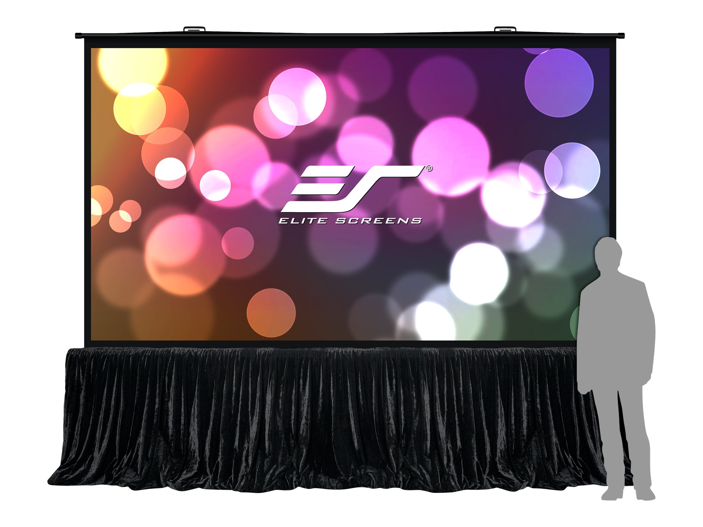 Elite QuickStand 5-Second Series Projection Screen, MaxWhite FG, 4:3, 163, QS163VD