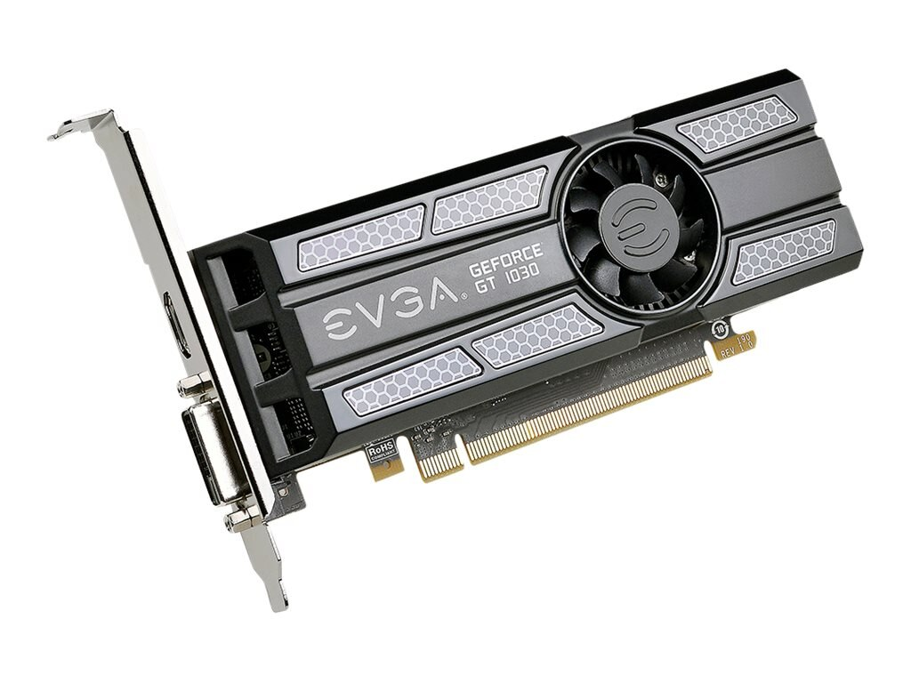 eVGA GeForce GT 1030 Superclocked PCIe 3.0 x16 Graphics Card, 2GB GDDR5, 02G-P4-6333-KR