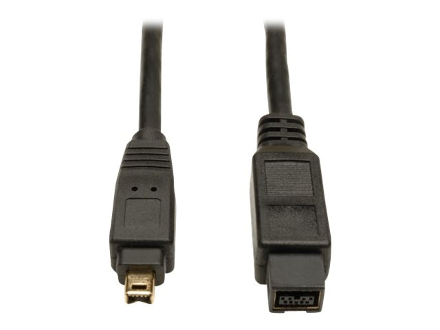 Tripp Lite 9-pin to 4-pin IEEE 1394b Firewire 800 Gold Cable, 10ft, F019-010, 5948132, Cables