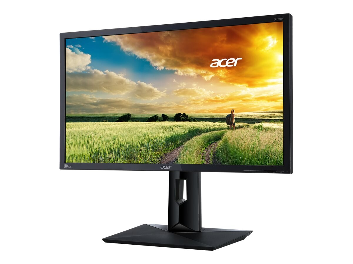 Acer 28 CB281HK bmjdpr 4K Ultra HD LED-LCD Monitor, Black, UM.PB1AA.001