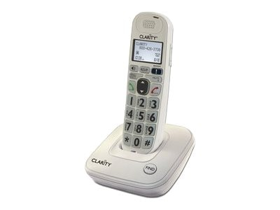 Plantronics Clarity D704 DECT 6.0 Expandable Amplified Cordless Phone with Caller ID, 53704.000, 14539795, Telephones - Consumer