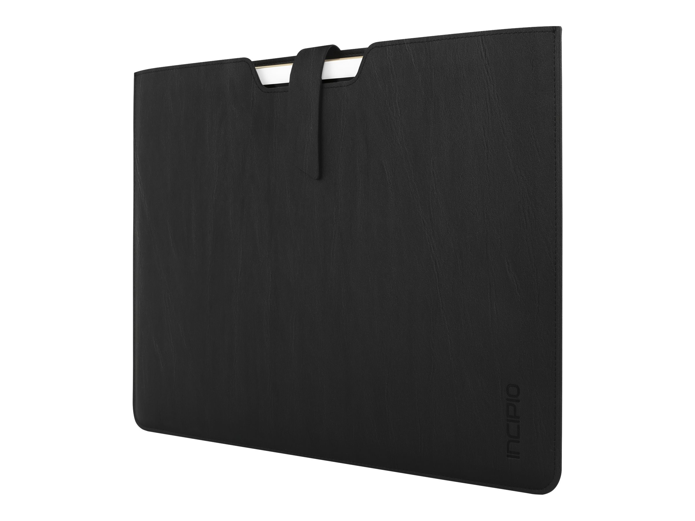 Incipio Lunde Slim Vegan Leather Sleeve for iPad Pro 12.9, Black