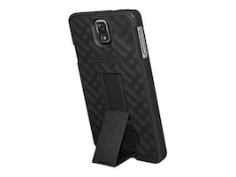 Amzer Snap On Case w  Kickstand for Samsung Galaxy Note 3, Black, AMZ96228, 33581956, Carrying Cases - Tablets & eReaders