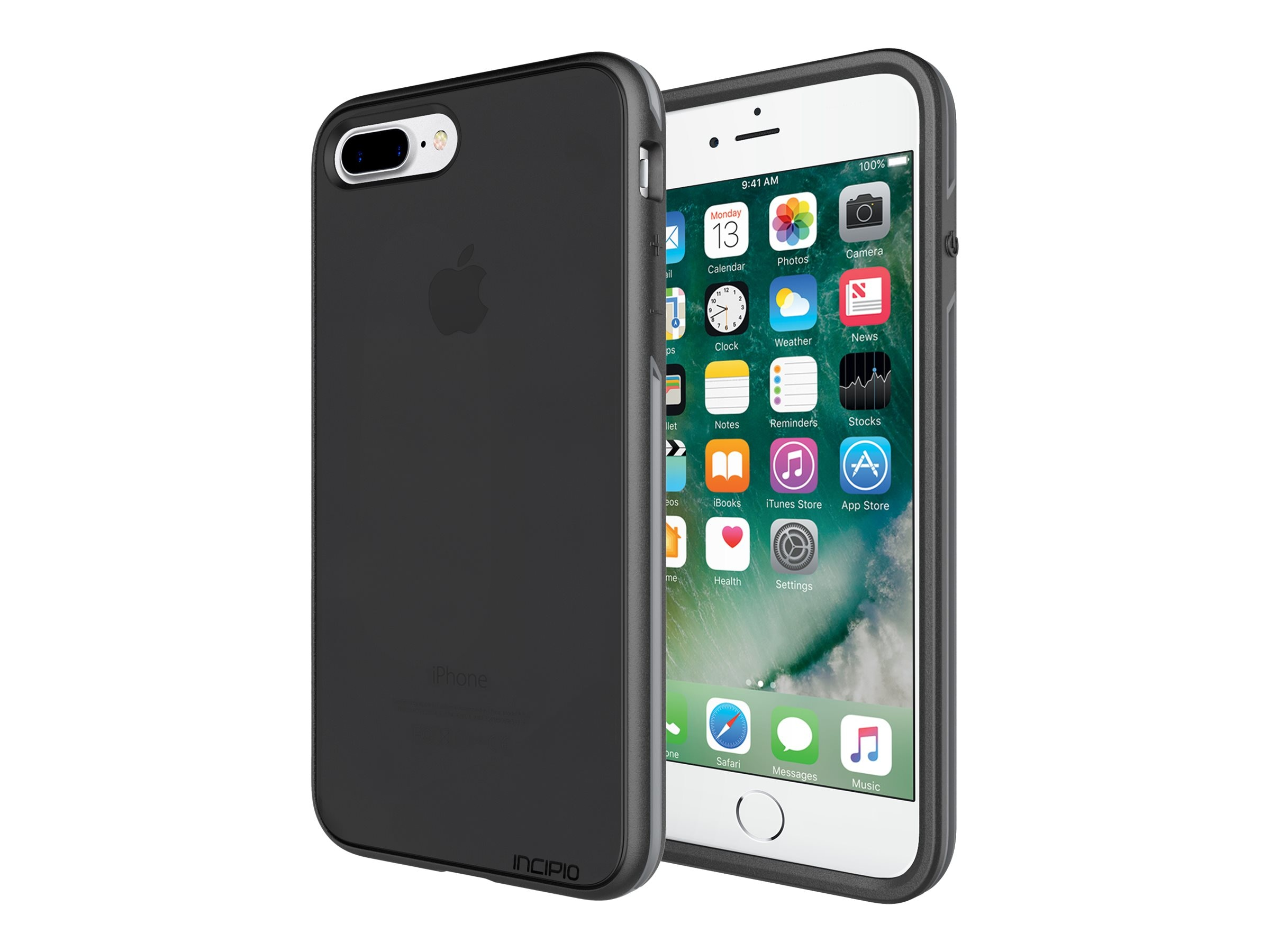 Incipio Performance Series Slim Case for iPhone 7 Plus, Smoke Charcoal, IPH-1514-SCH