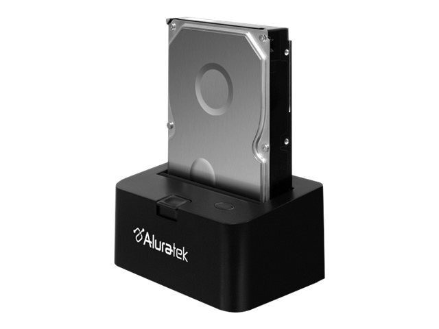 Aluratek 2.5 3.5 USB 3.0 SATA Hard Drive Docking Enclosure, AHDDU200F, 30855309, Hard Drive Enclosures - Single