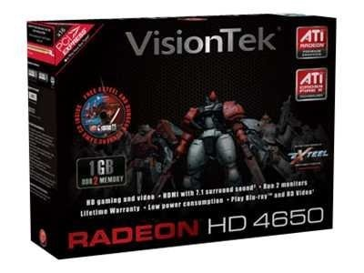 VisionTek ATI Radeon HD 4650 PCIe Graphics Card, 1GB DDR2, HDMI, 900276, 9869503, Graphics/Video Accelerators