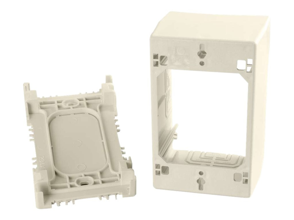 C2G Wiremold Uniduct Single Gang Extra Deep Junction Box, Ivory