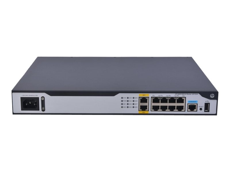 HPE MSR1003-8 AC Router US English, JG732A#ABA