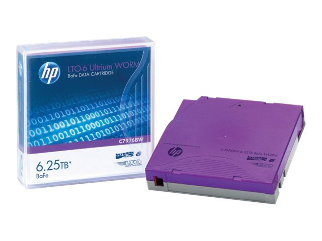 HPE 6.25TB LTO-6 Ultrium BaFe WORM Data Cartridge, C7976BW, 16614234, Tape Drive Cartridges & Accessories