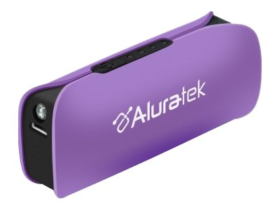 Aluratek Portable Battery Charger Violet, APBL01FV, 16356351, Battery Chargers