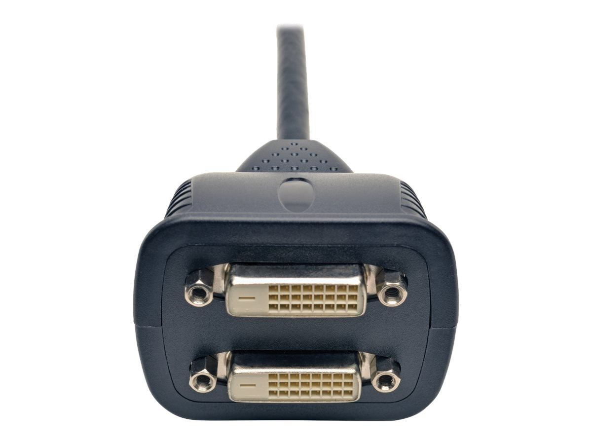 Tripp Lite DVI Dual-Link to 2x DVI M F Digital Video Monitor Splitter Y Cable, 1ft, P564-001