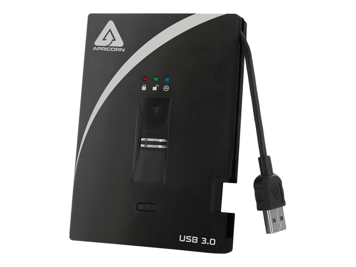 Apricorn 256GB Aegis Bio USB 3.0 External Solid State Drive - 256-bit AES Hardware Encrypted, A25-3BIO256-S256