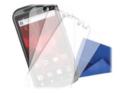 Griffin TotalGuard Screen Protectors and Cleaning Cloth for Droid Bionic, 3 Pack, GB03675, 13510675, Protective & Dust Covers
