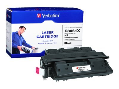 Verbatim C8061X Black High Yield Toner Cartridge for HP LaserJet 4100 Series Printers, 94464