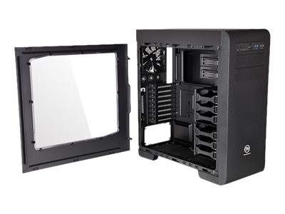 Thermaltake Chassis, Core V41 Gaming Mid Tower with Window ATX 6x3.5 Bays 2x5.25 Bays 8xSlots, Black, CA-1C7-00M1WN-00, 18511693, Cases - Systems/Servers
