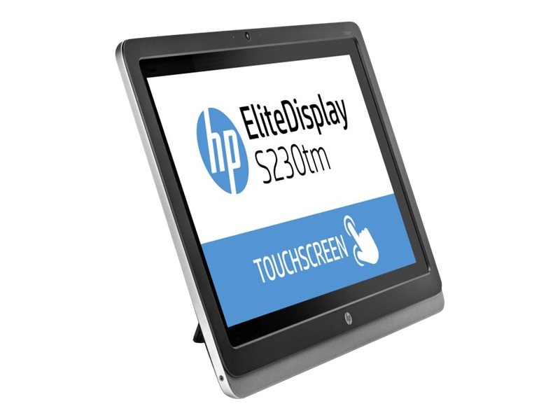 HP 23 S230tm Full HD LED-LCD Touchscreen Monitor with Webcam, Black, E4S03A8#ABA