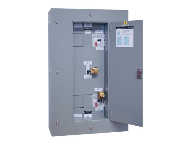Tripp Lite Maintenance Bypass Panel 3-breaker Wallmount Kirk-key Interlock for 60kVA 3-phase UPS, SU60KMBPK, 8682350, Battery Backup Accessories