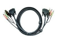 Aten USB to DVI-D Dual Link KVM Cable, 16ft.