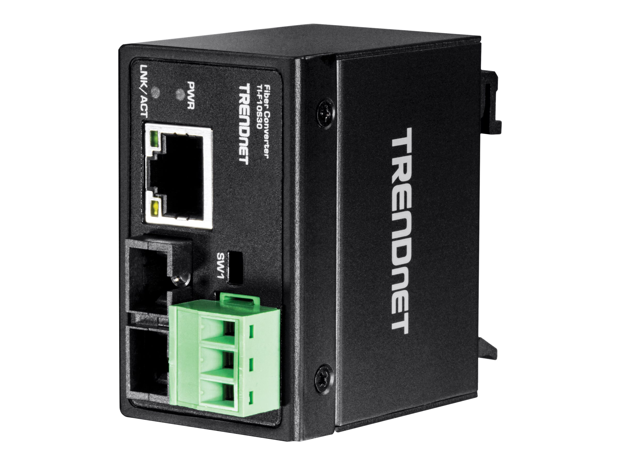 TRENDnet Hardened Industrial 100Base-FX Single-Mode SC Fiber Converter (30 km, 18.6 mi)