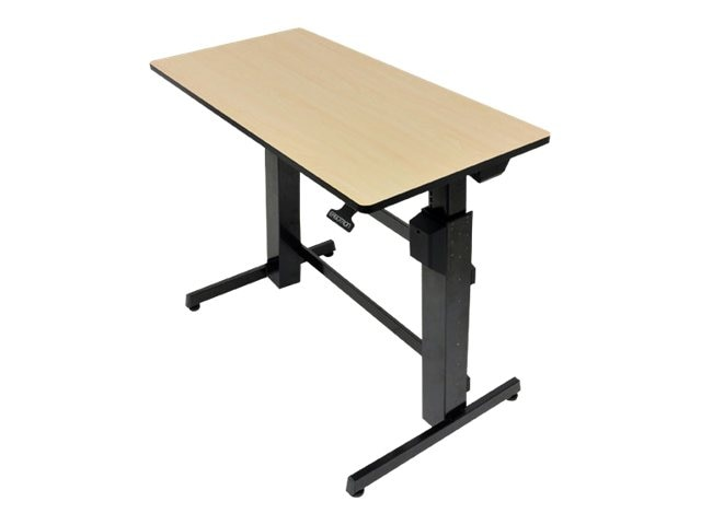 Ergotron WorkFit-D, Sit-Stand Desk, Birch