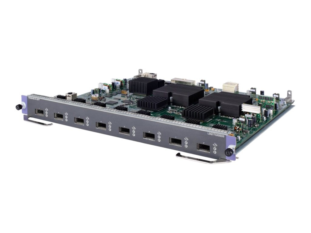 HPE 7500 8-port 10GbE XFP Extended Module (JD191A), JD191A