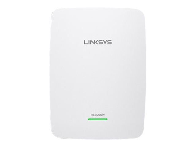 Linksys N300 WiFi Wireless Single Band Range Extender, RE3000W, 18447273, Network Extenders