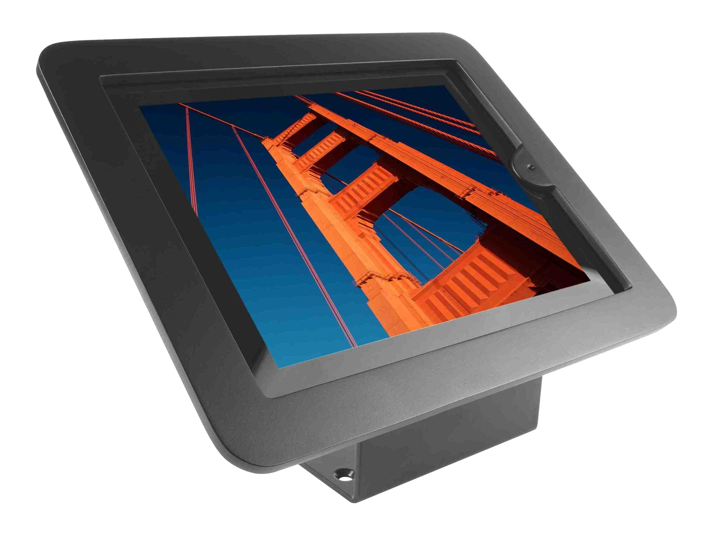 Compulocks iPad Enclosure Kiosk Wall or Desk Mount, Executive,  iPad Kiosk fits iPad 2 3 4 , Black
