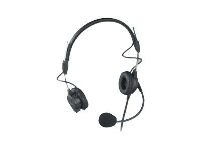 Bosch Security Systems PH-44 Dual-Sided Lightweight Sided Headset 6FT 18M Cord Pigtail Terminator